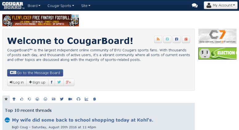 Access Mobile Cougarboard Com Cougar Board Welcome Byu Football