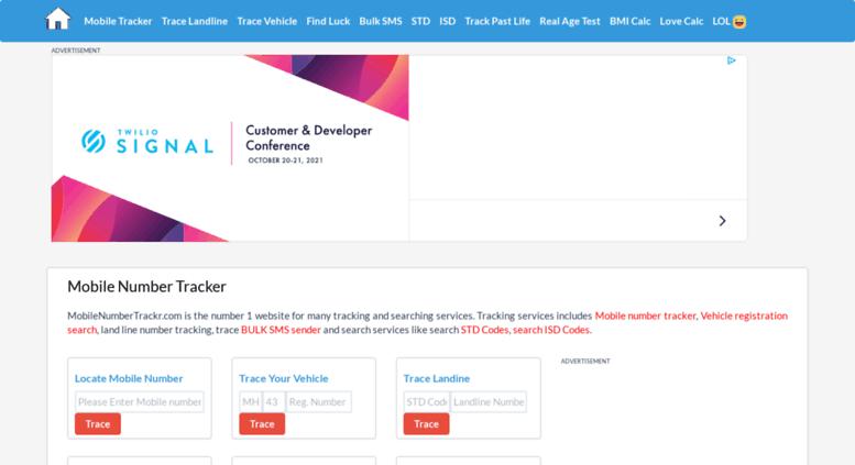 Access mobilenumbertrackr com  Mobile Number Tracker