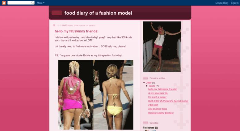 Access modeldietplan blogspot com  food diary of a fashion model