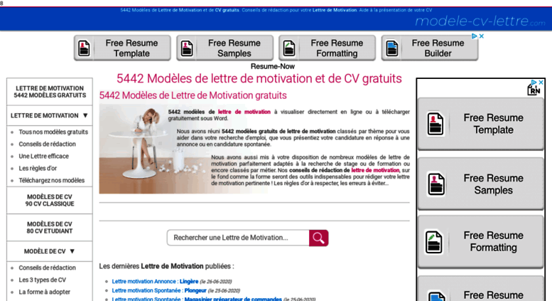 Access Modele Cv Lettre Com Lettre De Motivation Modèle