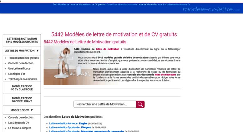 Access Modele Cv Lettre Com Lettre De Motivation Modele Cv 4678
