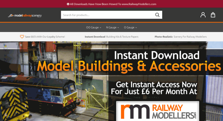 Access modelrailwayscenery com  Card Model Building Kits