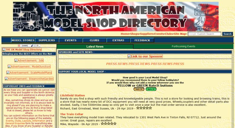 Access modelshopsusa com  THE Model Shop Directory of North America