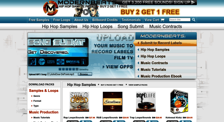 Access modernbeats com  Free Hip Hop Sample Packs, Free Hip Hop