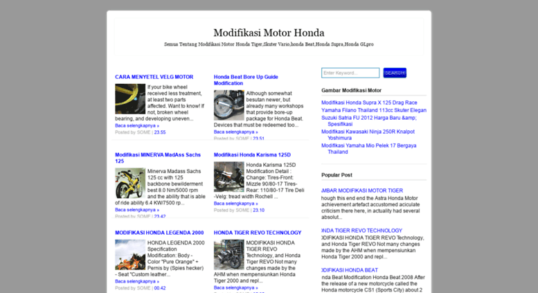 Access Modifikasi Motor Honda Blogspot Com Modifikasi Motor Honda