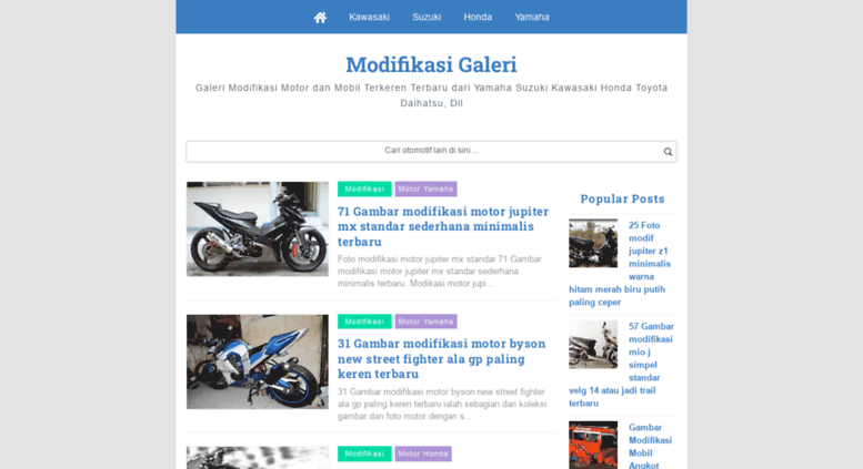 Access Modifikasigaleriblogspotcom Foto Gambar Modifikasi