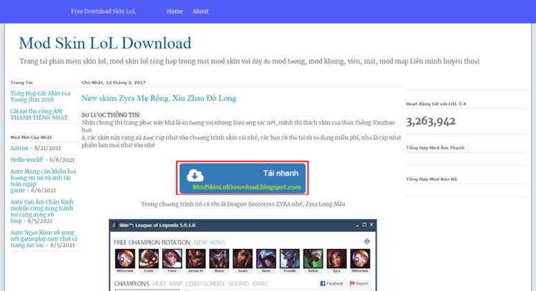 Access modskinloldownload blogspot com  Mod Skin LoL Download