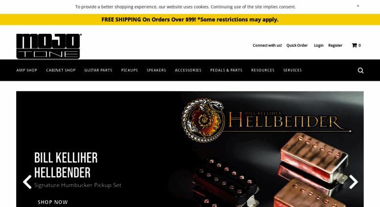 Access mojotone com  Amp Parts, Cabinets, Guitar, Bass, Pickups