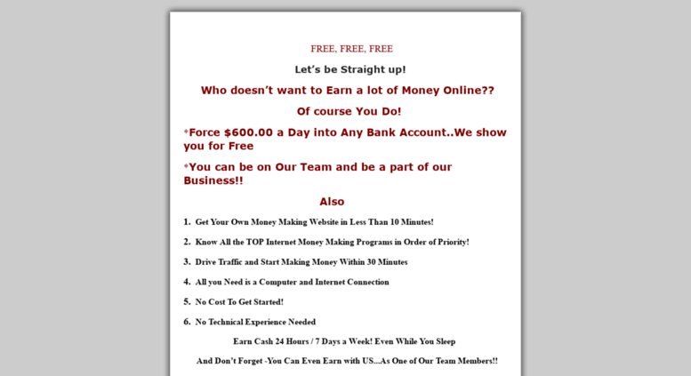 Access moneyonline wbclist com  List Building Secrets