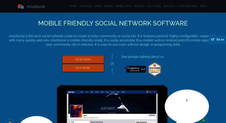 Access moosocial com  mooSocial - PHP Social Network Script