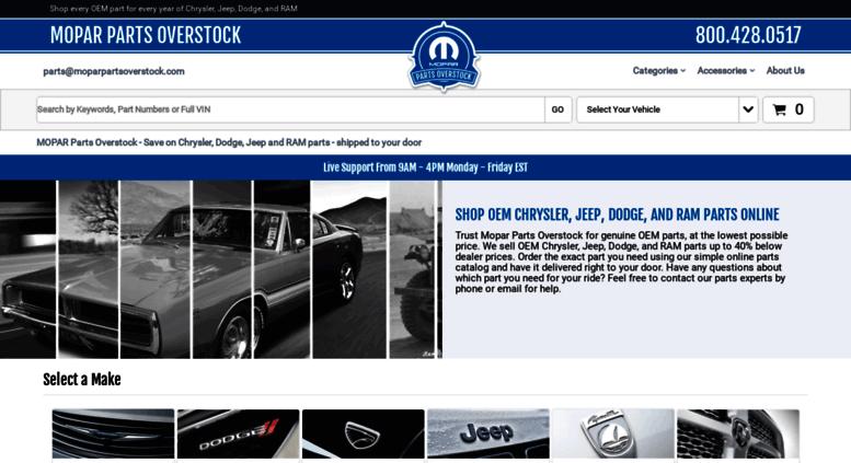 Access moparpartsoverstock com  Mopar Parts Online - Save up