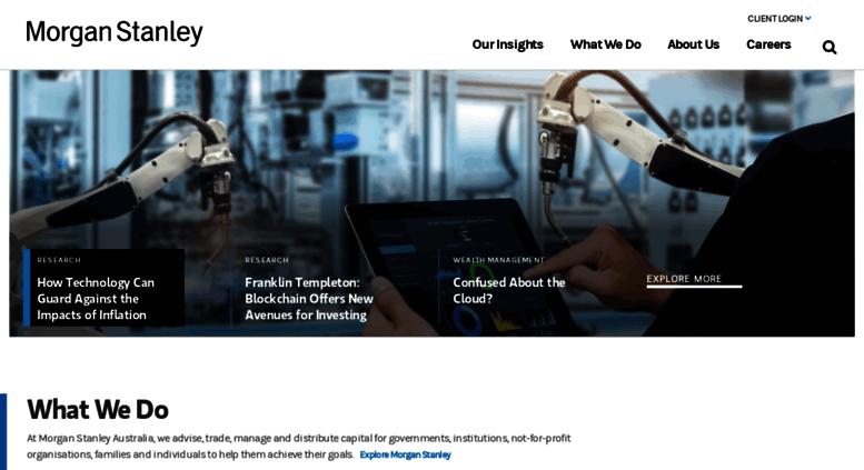 Access morganstanley com au  Home | Morgan Stanley Australia