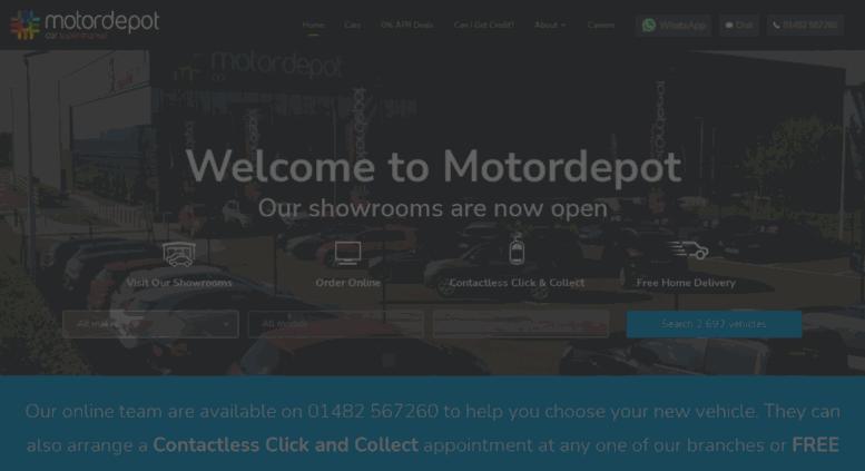 Access Motordepot.co.uk. Motordepot