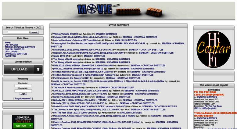 Access movie-subtitles com  Titlovi - Titlovi za filmove - DivX