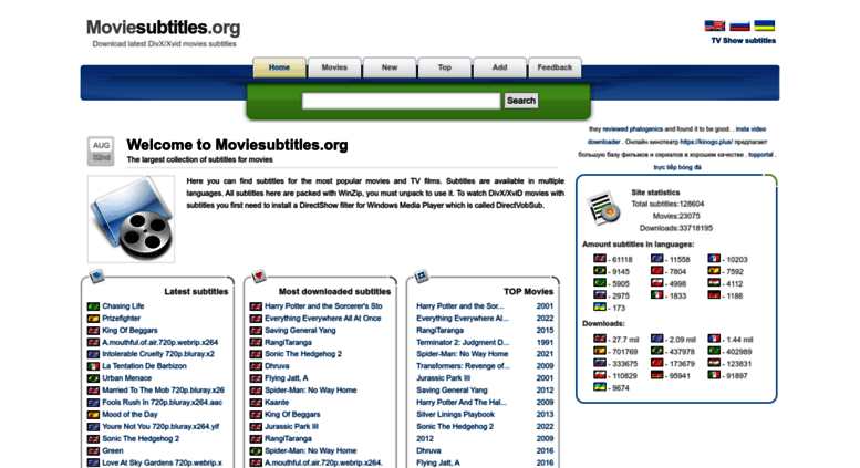 Access moviesubtitles org  Moviesubtitles org - Download latest DivX