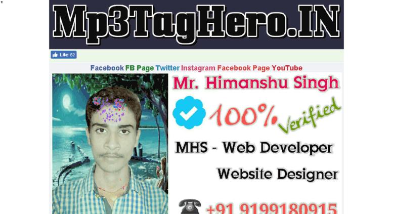 Access mp3taghero com  Mp3TagHero IN || Online Advance Mp3Tag Editor