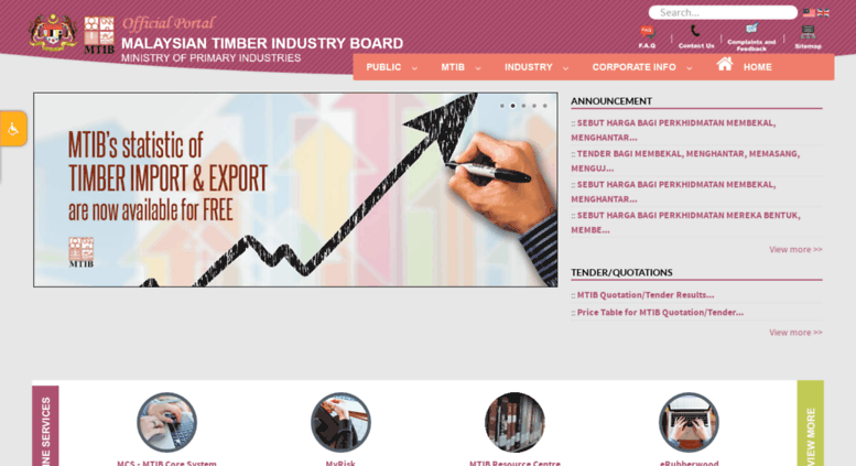 Access mtib gov my  Malaysian Timber Industry Board - Welcome To MTIB