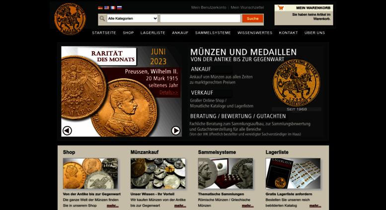 Access Muenzenritterde Münzhandlung Ritter Die Ganze Welt Der Münzen