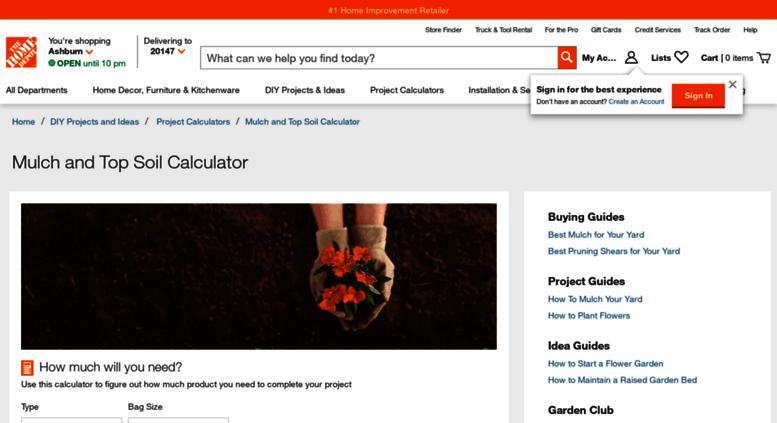 Mulch Calculator Home Depot - Home Design 2017