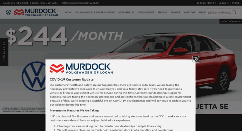 Car Dealerships In Utah >> Access Murdockvw Com Murdock Volkswagen Leading All Car