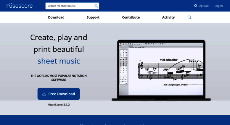 Access musescore org  Free music composition and notation