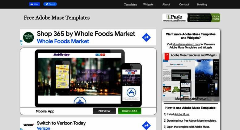 Access musetemplatesfree com  Free Adobe Muse Templates
