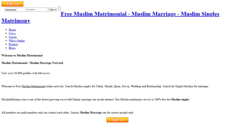 Access muslimmuslima com  Home | Free Muslim Matrimonial - Muslim