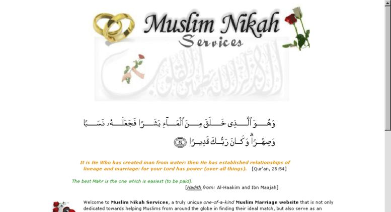 Access muslimnikah ca  Muslim Nikah Services :: Your Online