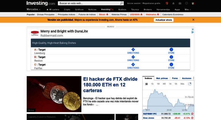 Investingcom Calendario Economico.Access Mx Investing Com Investing Com Mexico Finanzas