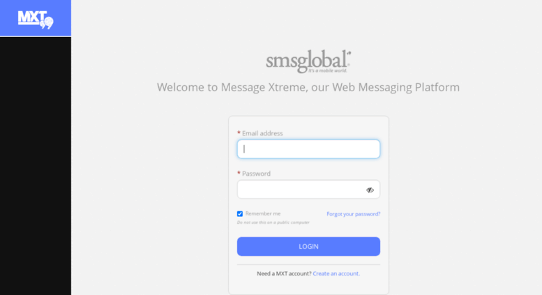 Access mxt smsglobal com  MXT Login   Message Xtreme   SMS