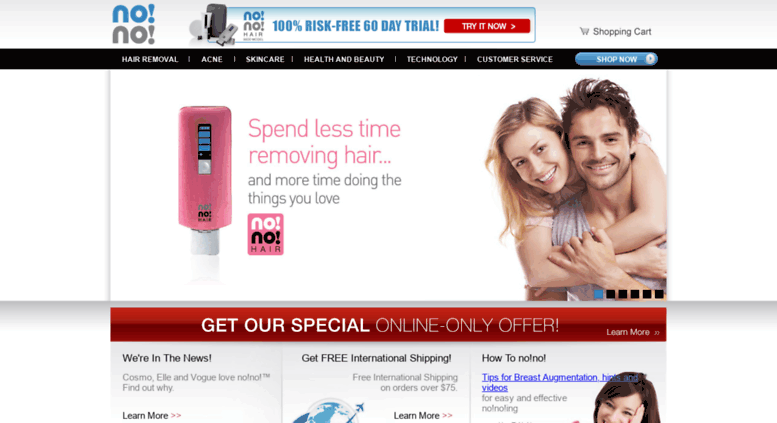 Access my-no-no com  Home | no!no!® PRO Hair Removal