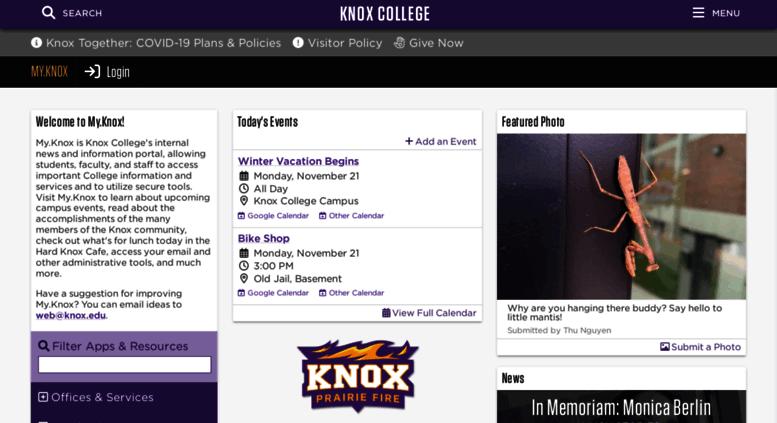Knox College Academic Calendar.Access My Knox Edu My Knox Knox College