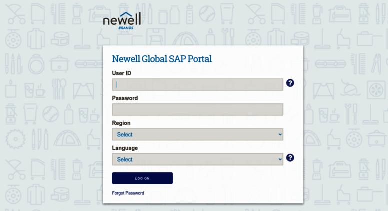 Access my newellrubbermaid com  SAP NetWeaver Portal