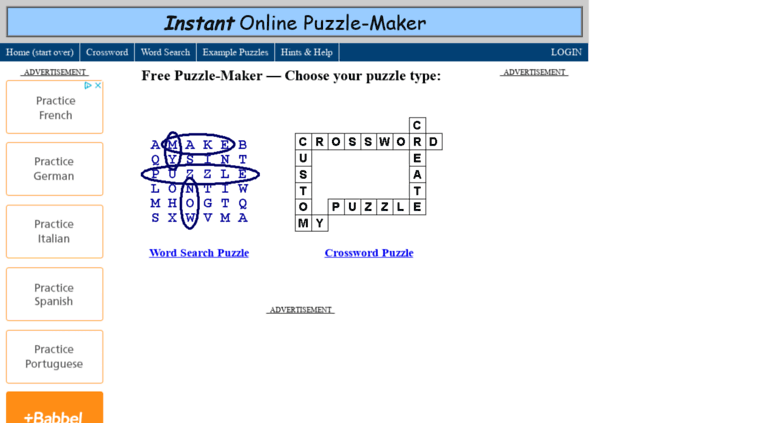 puzzle maker online - Search