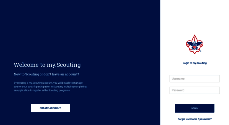 Access my scouting org  My Scouting
