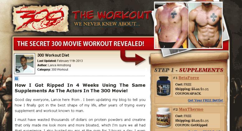 Access my300blog com  300 Workout Secrets - 300 Movie Body - Get The