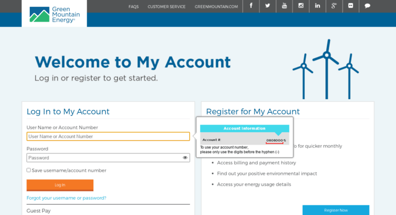 Access myaccount greenmountain com  My Account Login | Green