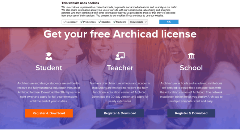 Archicad 22 for education: free download now available.