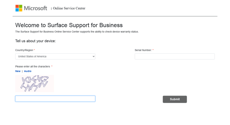 Access Mybusinessservice Surface Com Surface Support For Business