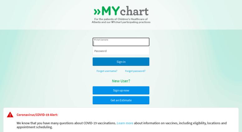 Mychart Choa Org Screenshot