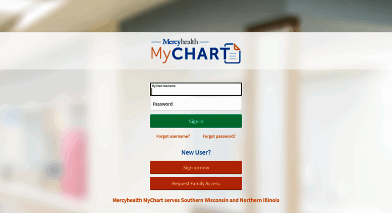 Mychart Mercyhealthsystem Org Screenshot