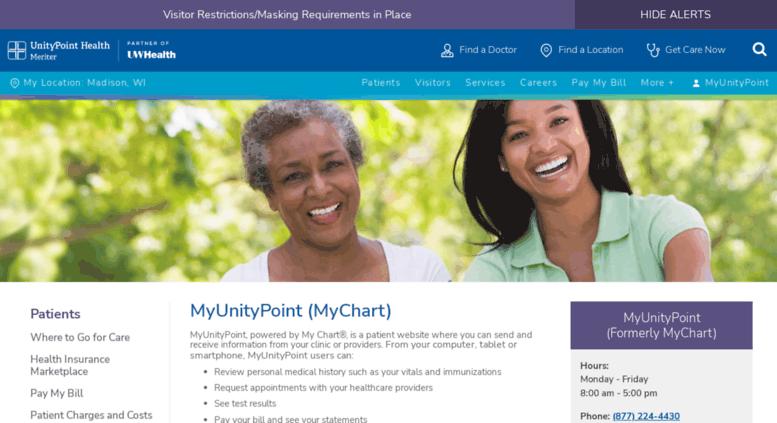 Access mychart meriter com myunitypoint at unitypoint health meriter