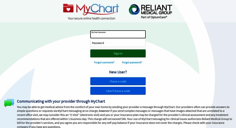 Access mychart reliantmedicalgroup org  MyChart - Login Page