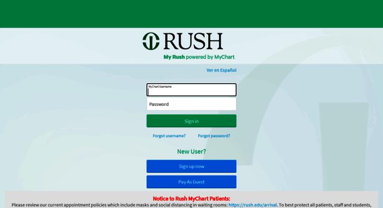 Mychart Rush Access Edu Lication Error Page