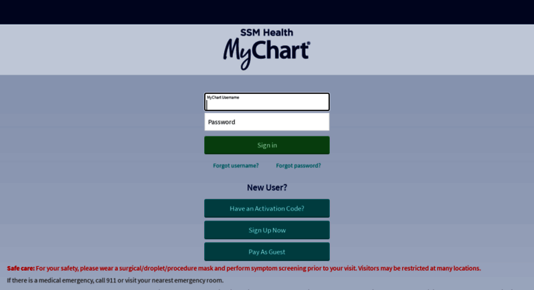 Mychart Ssmhc Screenshot