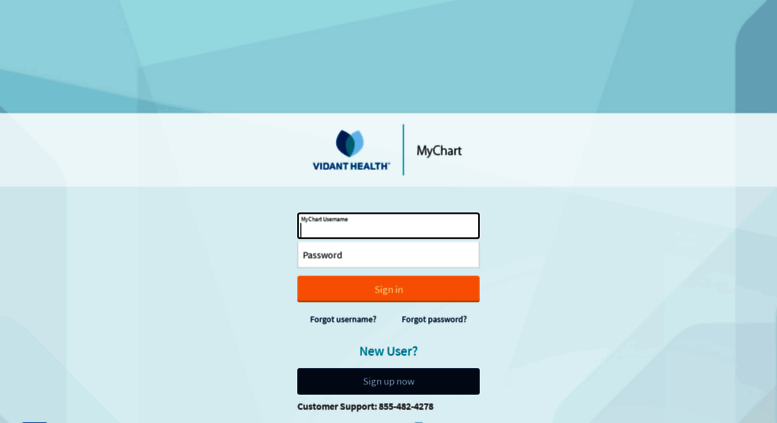 Mychart Vidanthealth Screenshot
