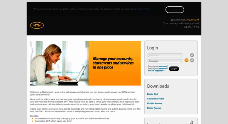 Access mycontract mtn co za  myContract