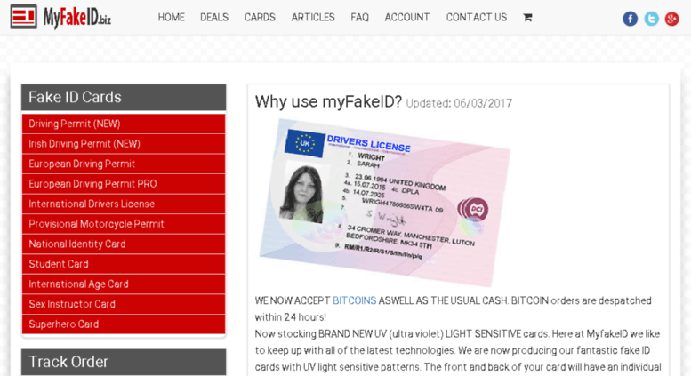 Access myfakeid biz  Fake ID - fake identification cards UK by