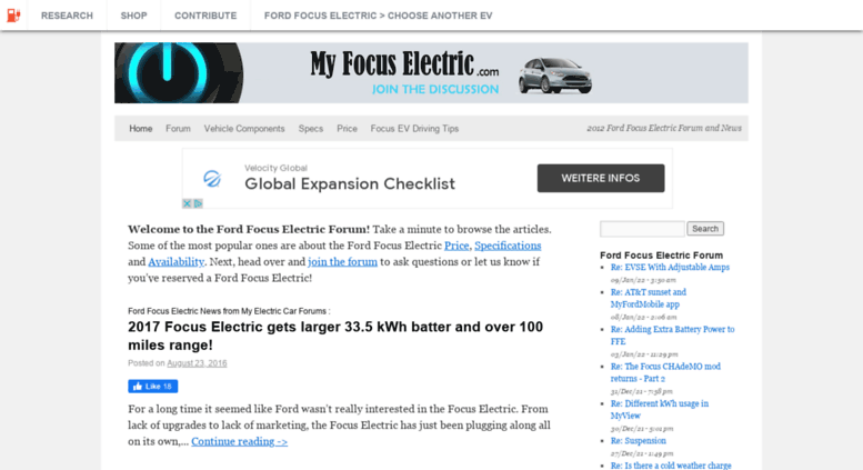 Myfocuselectric Screenshot