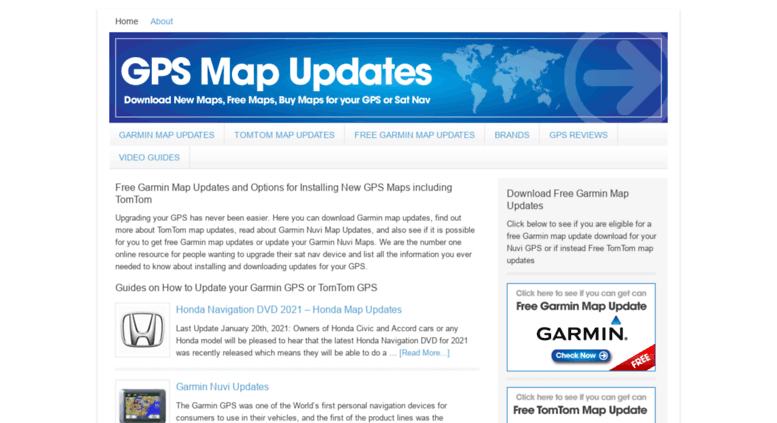 Access mygpsmapupdates com  Free Garmin Map Updates & TomTom